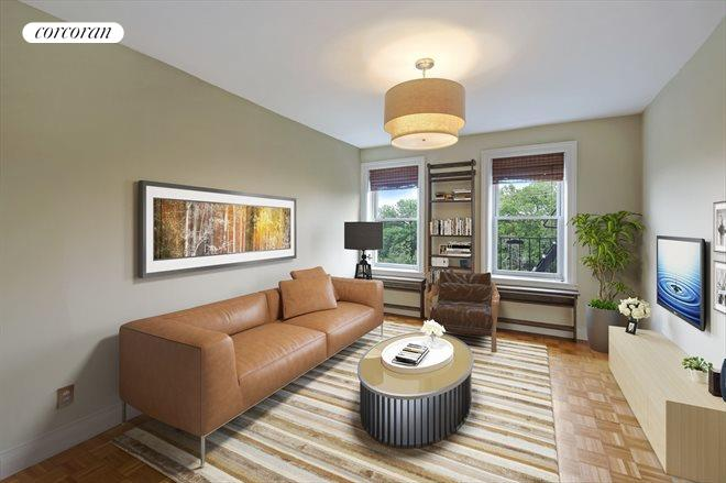 720 West 173rd Street, 41, Virtually Staged Living Room