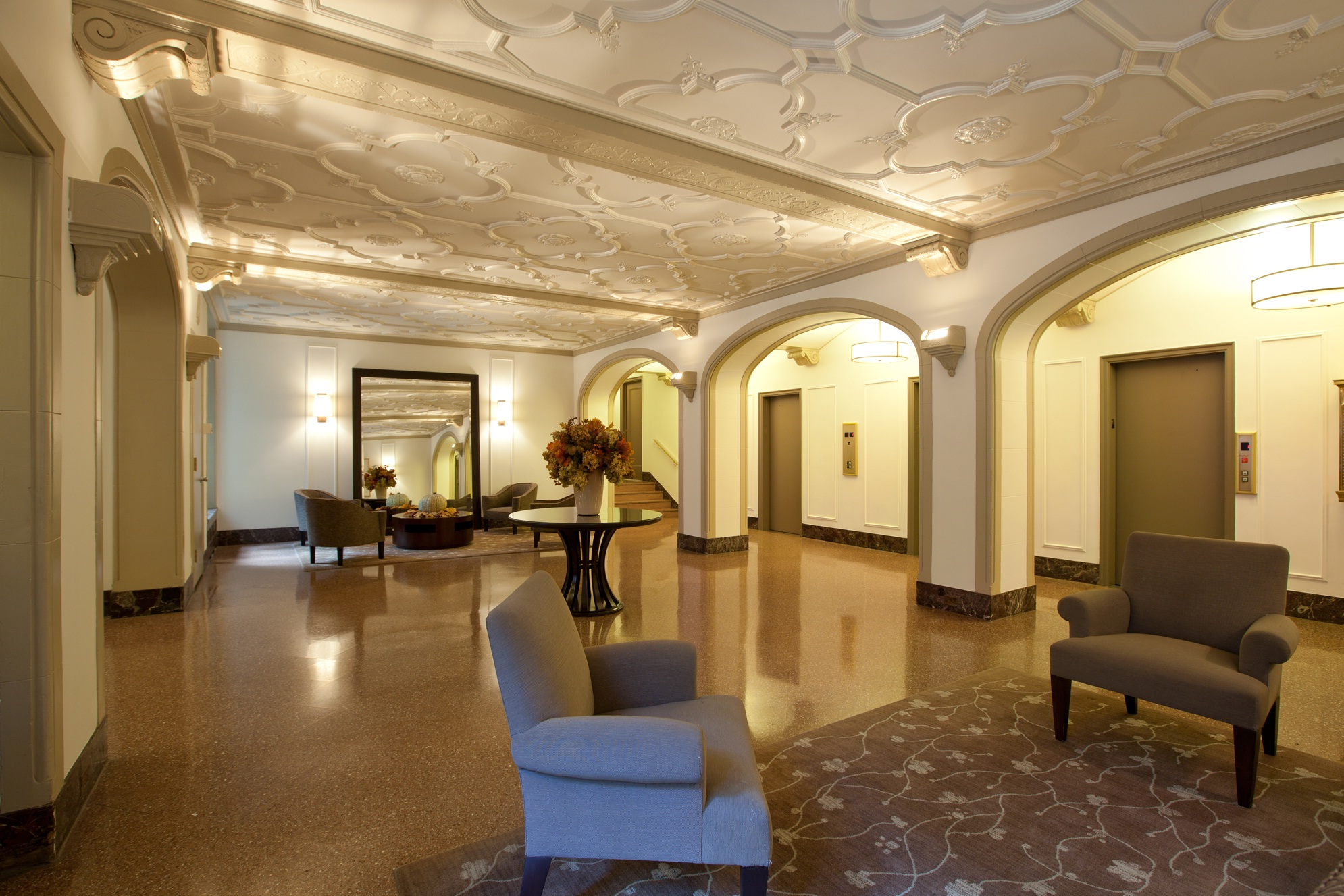 Beautiful Arched Lobby Area