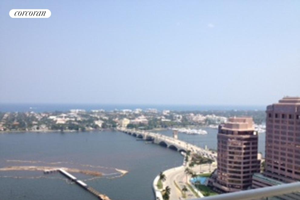 Views of the Intracoastal and Atlantic Ocean