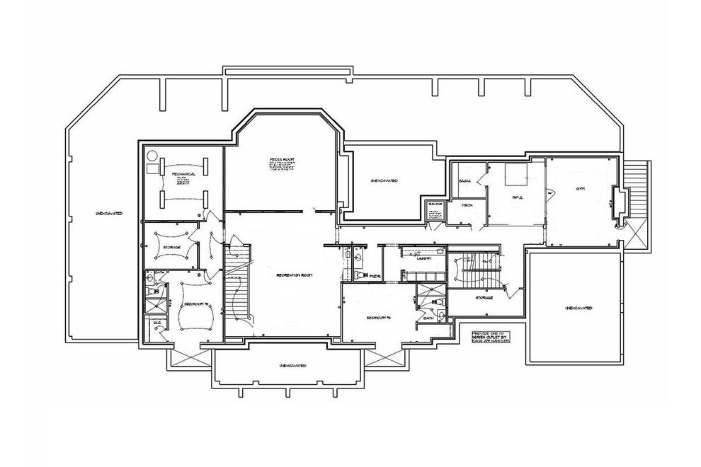 proposed lower level floor plan