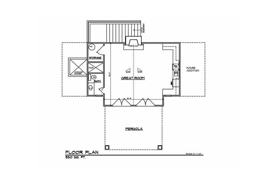 proposed pool house floor plan