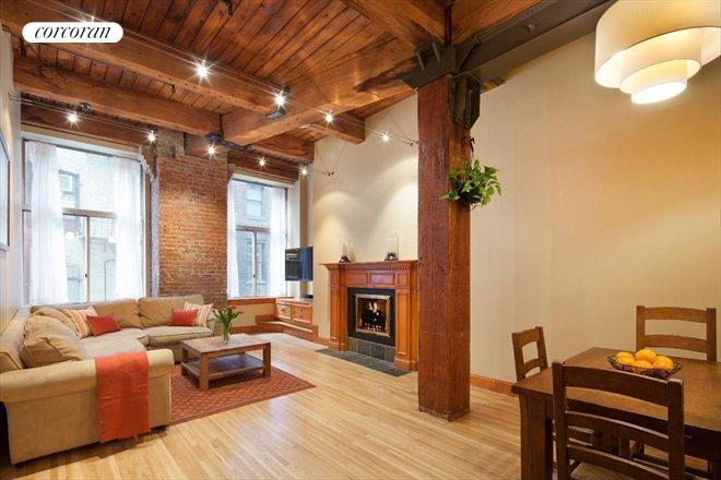 205 East 22nd Street, 2AB, Beautiful beamed ceilings and fireplace