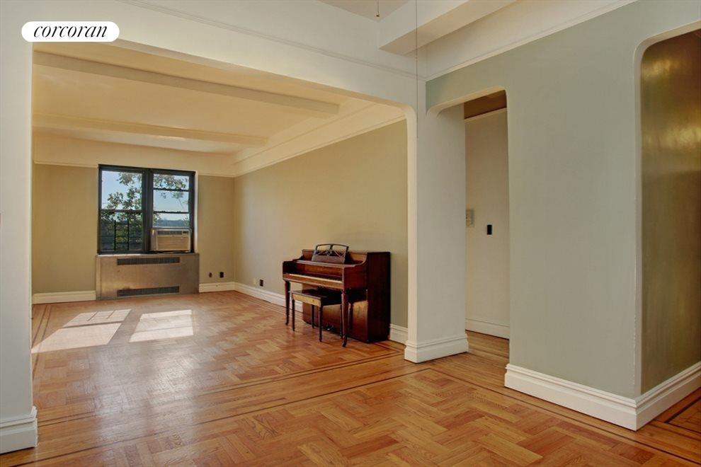 Living Room with large Dinning Foyer