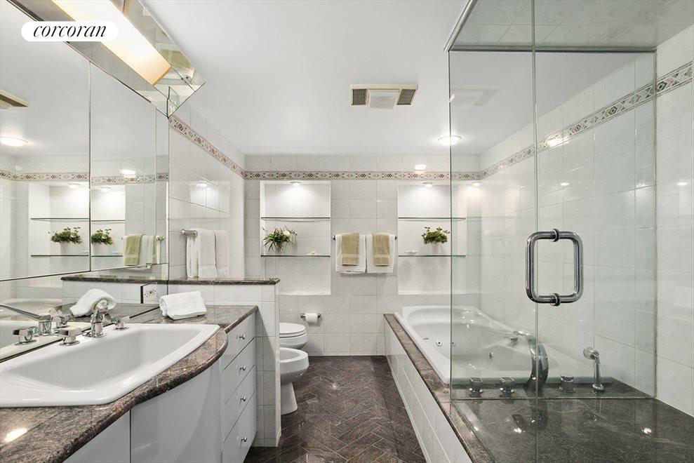 5 piece en suite master bathroom