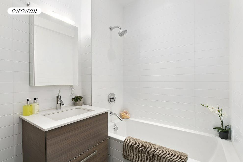 Modern touches in bathroom