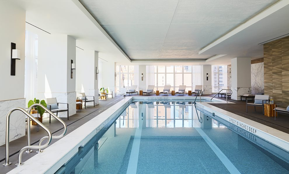 New York City Real Estate | View 305 East 51st Street, #26C | 50' Lap Pool