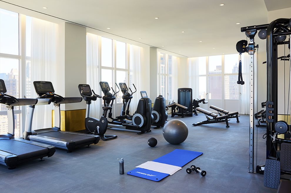 New York City Real Estate | View 305 East 51st Street, #26C | Exceptional Gym with City Views