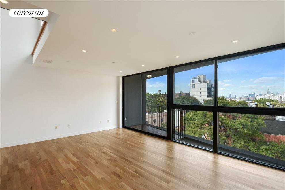 Living/Dining Room with Manhattan Views
