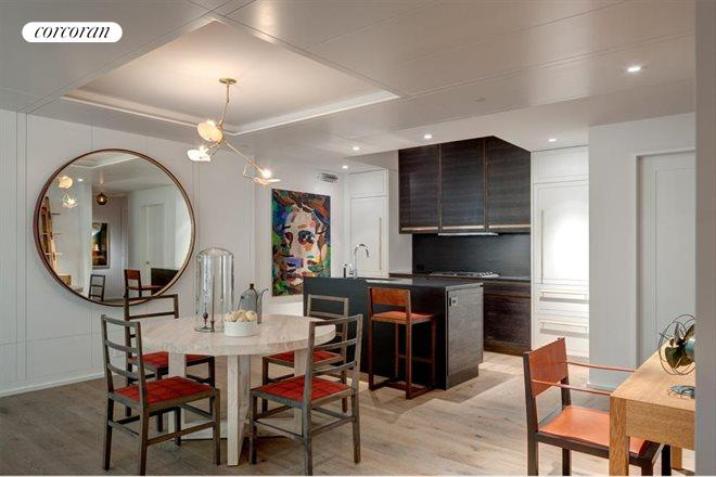 345 West 14th Street, 6A, Dining room with custom paneling