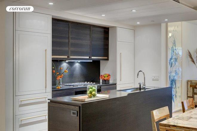 345 West 14th Street, 2C, Artisan crafted kitchen with bronze detail