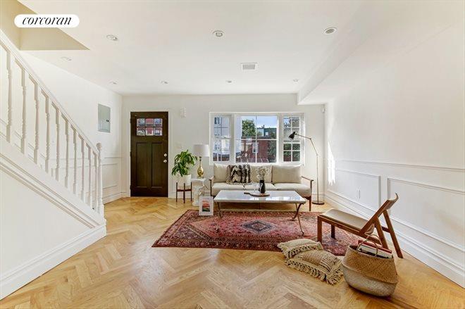 Living Room 86 St corcoran, 86 bleecker street, bushwick real estate, brooklyn for