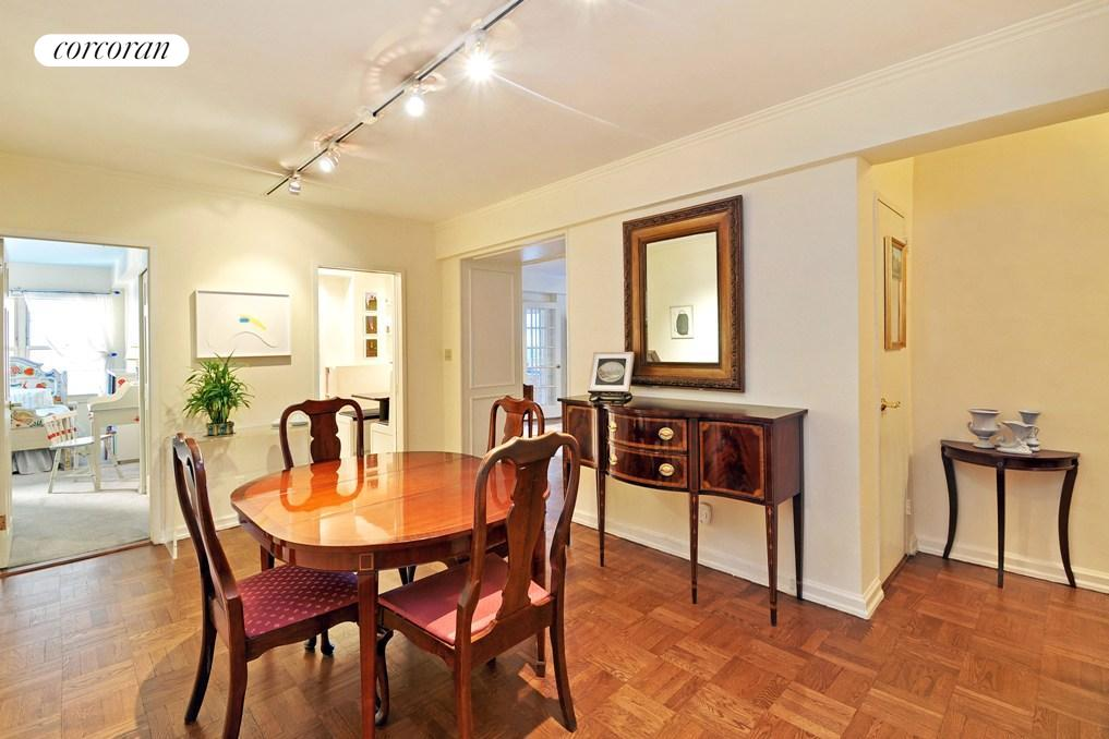 Parquet floors and abundant storage throughout