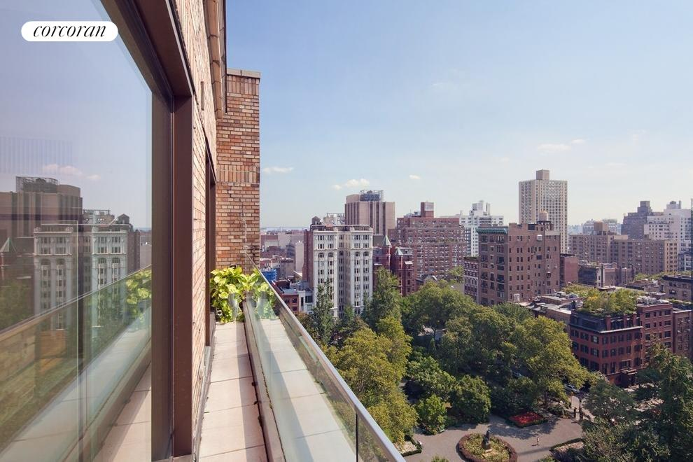 Gramercy Park views from juliet balcony.