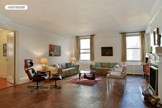 10 East 85th Street, 7B, Oversized room with woodburning fireplace
