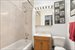 1725 York Avenue, 15G, Renovated Bath with Travertine Tiling