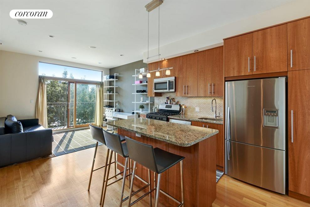 Living Room / Kitchen with Breakfast Bar