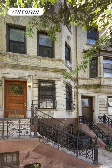 602 West 147th Street, Beautiful facade on a tree-lined townhouse block