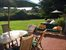 Southampton, alfresco dining with view of lawn