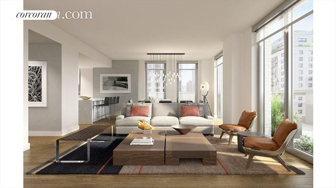 360 East 89th Street, 18B, Living Room