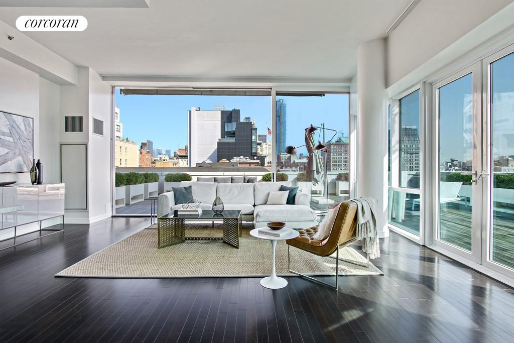 Corcoran 8 union sq s apt ph1 greenwich village real - The living room at the w union square ...