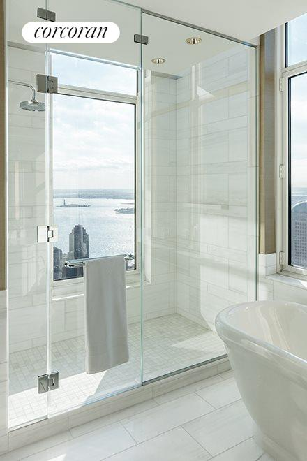 New York City Real Estate | View 30 PARK PLACE, #70A | Master Bathroom
