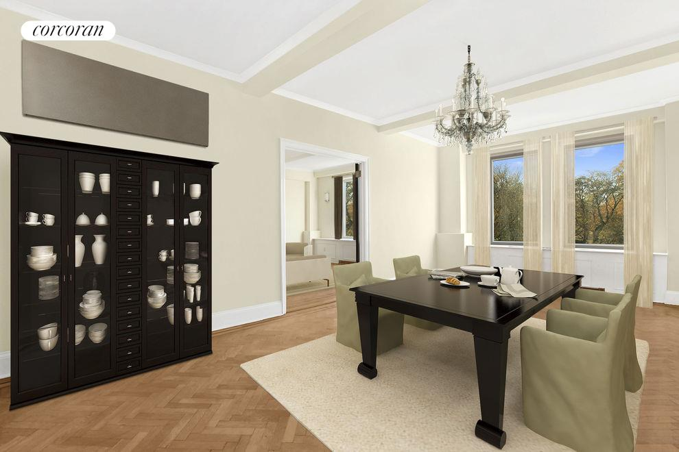 1200 Fifth Avenue, Apt. 4B, Manhattan (06 Virtually Staged Dining Room)