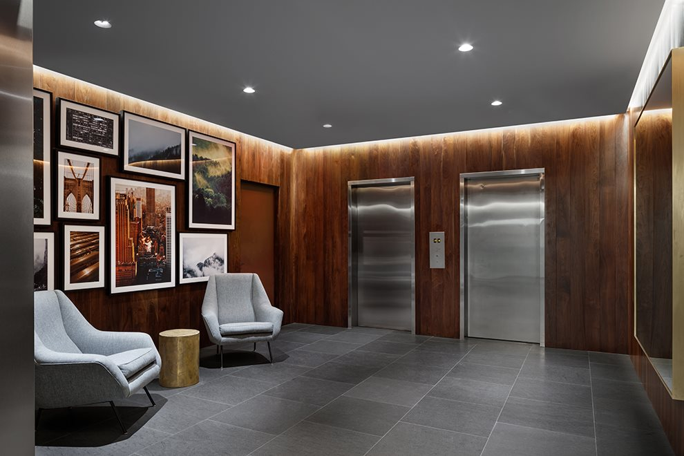 New York City Real Estate | View 200 East 62nd Street, #GF | Elegant Elevator Lobby