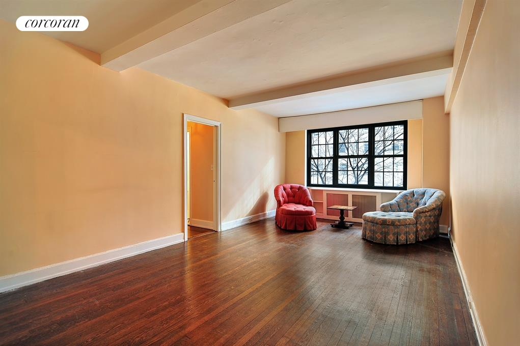 240 East 79th Street, 2B, Spacious Living Room with Lovely Tree Lined Views