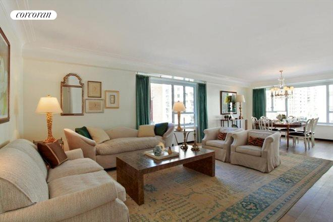 200 East 66th Street, E3-06, Corner Living Room with Balcony