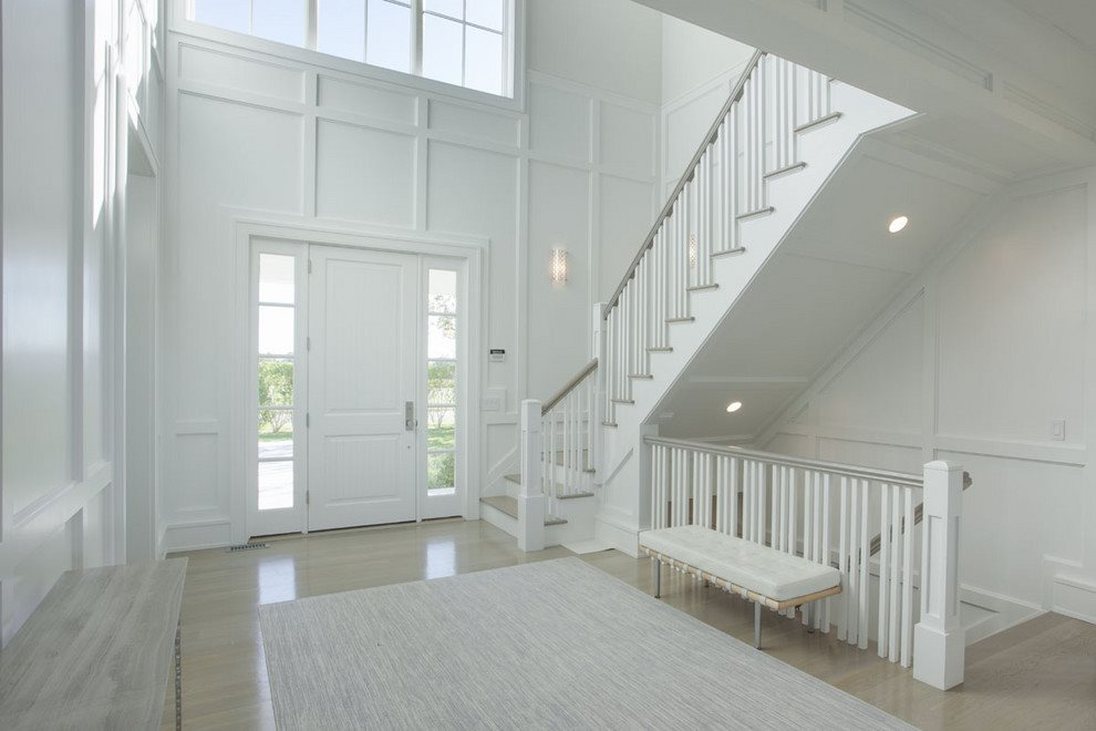 double height entry foyer
