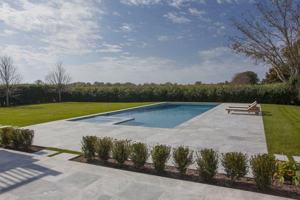 heated gunite pool and spa