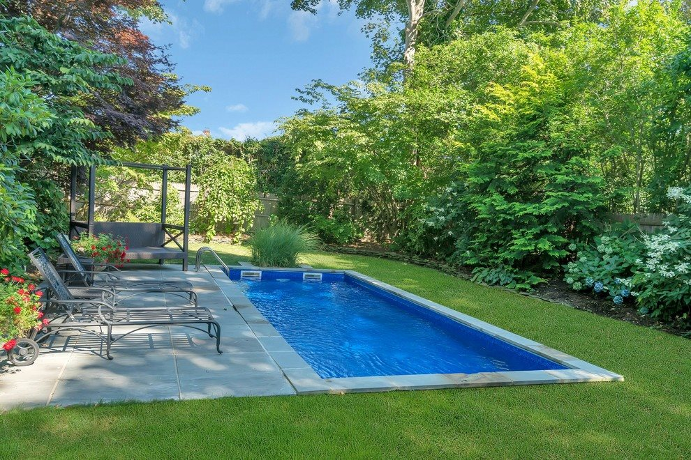 Private property with pool and bluestone terrace