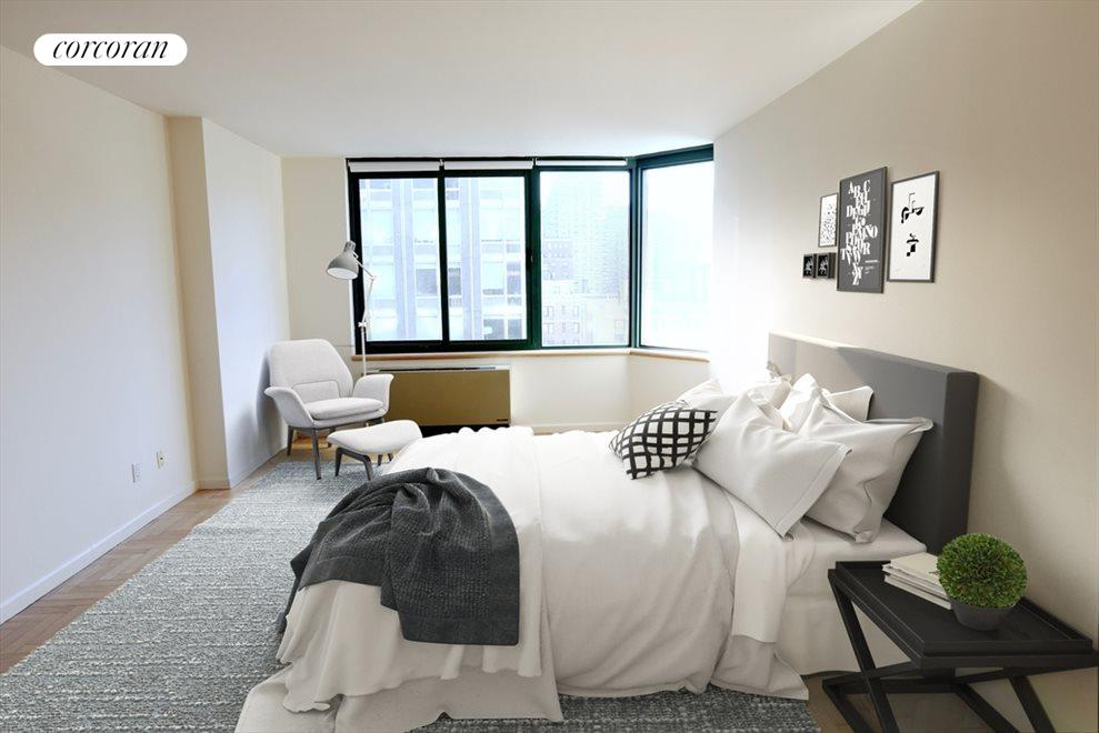 bedroom virtually staged