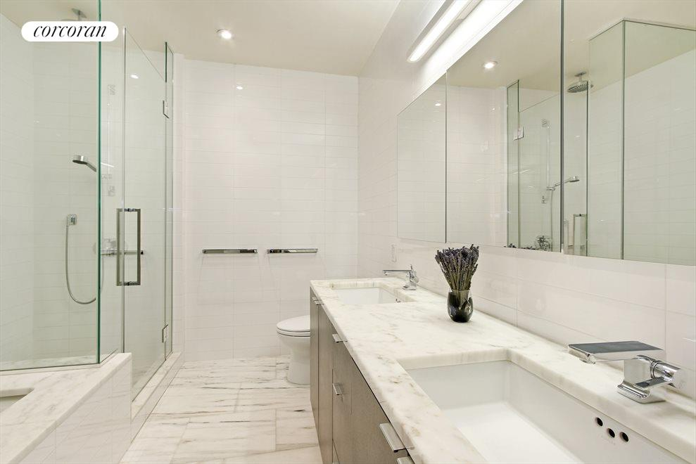 Stunning En-Suite 5 Piece Marble Bathroom