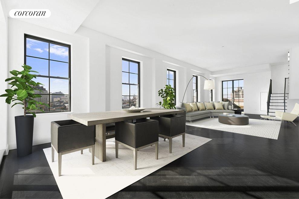 living/dining room (virtually staged)