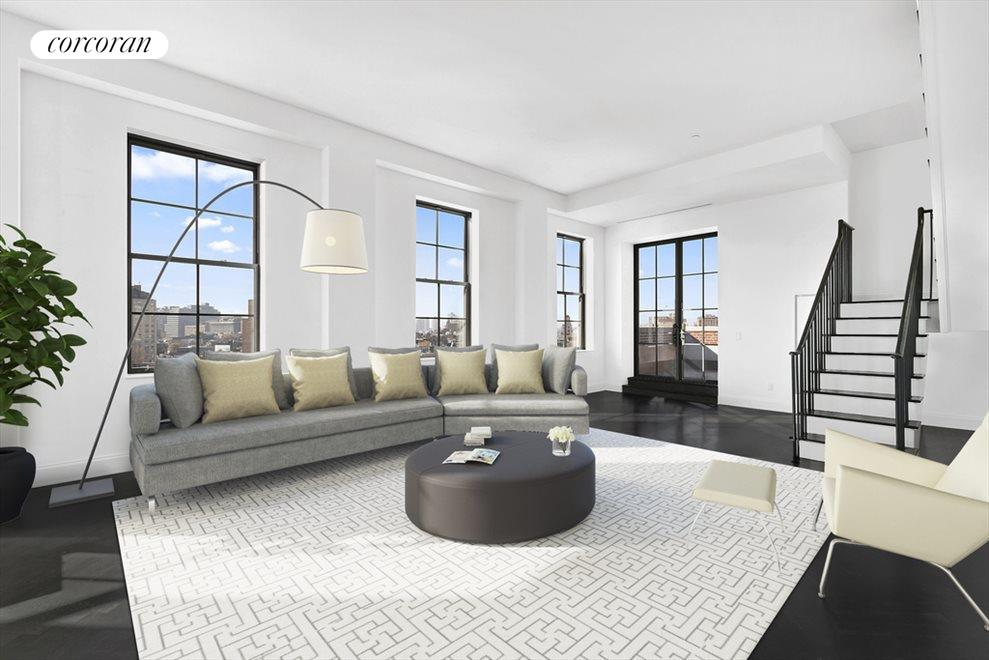 living area (virtually staged)