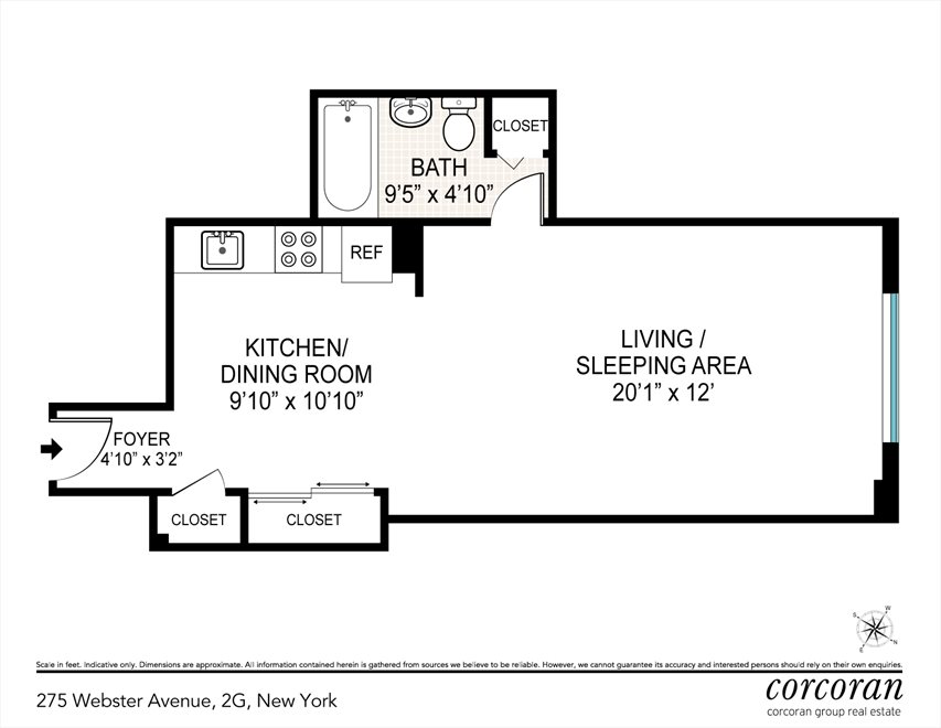 New York City Real Estate | View 275 Webster Avenue, #2G | Floorplan