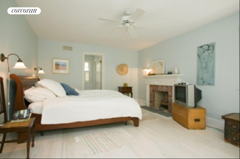 Master bedroom has a fireplace