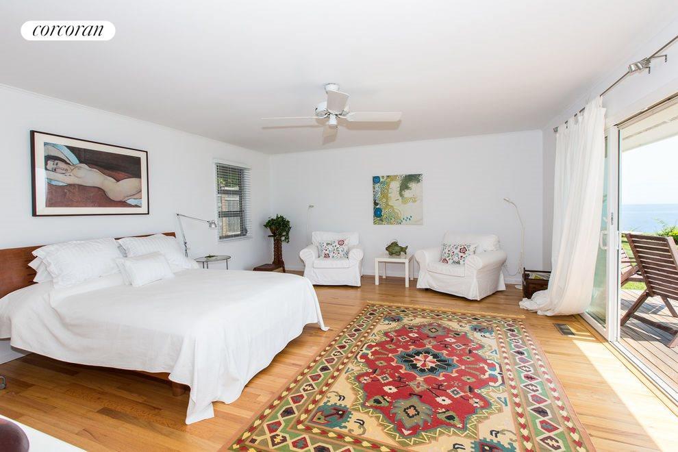 Master bedroom with view of Gardiner's Bay