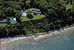 183 Ram Island Drive, Aerial showing 287' of private sandy beach