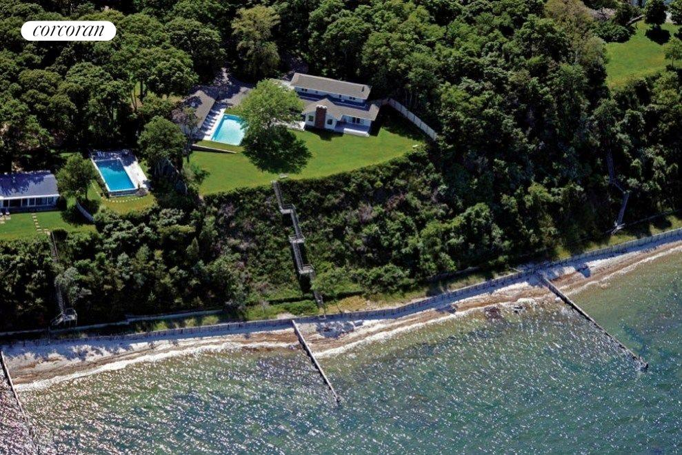 Aerial showing 287' of private sandy beach