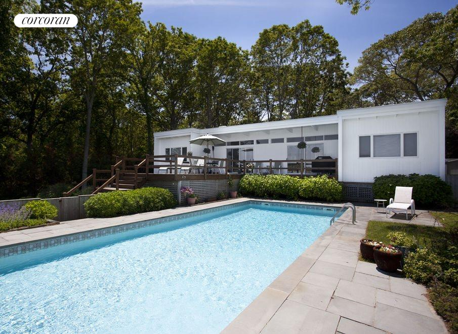 rear exterior and pool