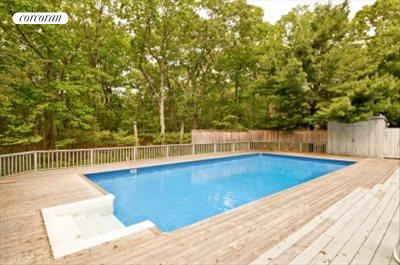 The Hamptons Real Estate | View 29 North Hollow Drive | pool with solar heating system