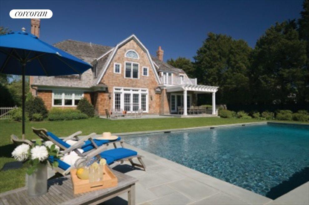 Private back yard with heated gunite pool