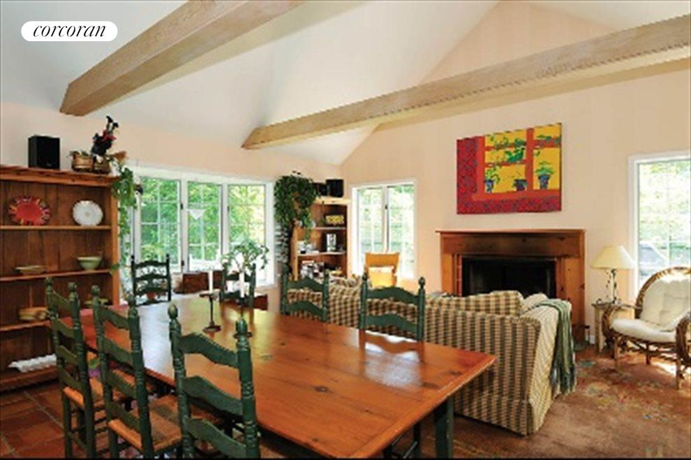 New York City Real Estate | View 40 Williams Way | Dining Room with Fireplace