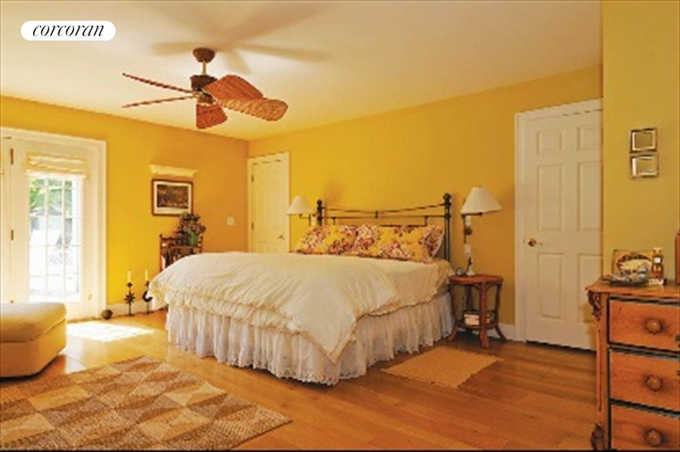 New York City Real Estate | View 40 Williams Way | Spacious Master Bedroom Opens on to the garden