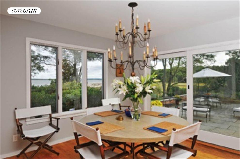 Dining area with waterview