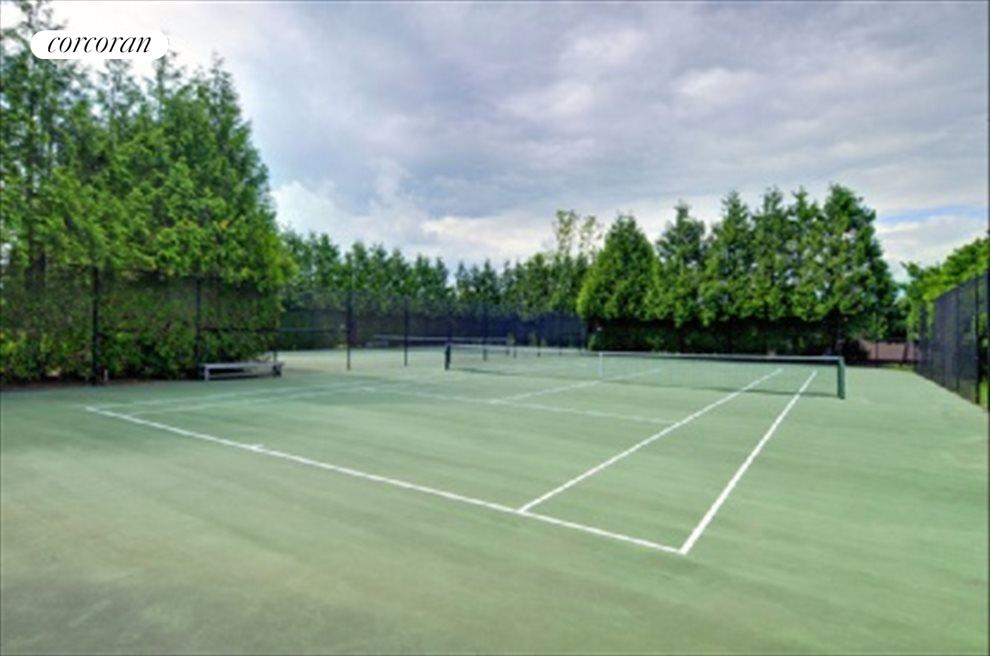 Two community tennis courts