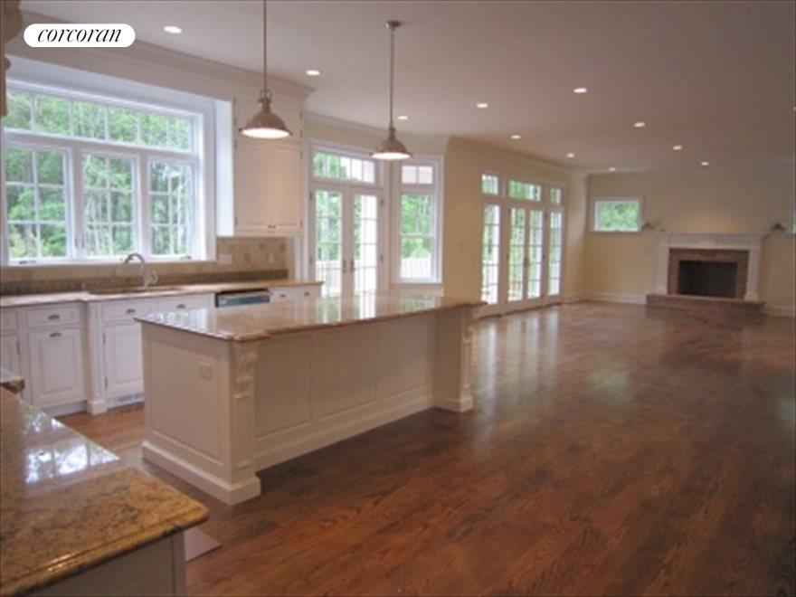 Open Floor Plan Kitchen and Great Room with Fireplace