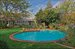156 Meadowmere Lane, Freeform pool with brick surround